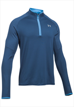 Under Armour Trainings Top Threadborne No Breaks 1/4 Zip dunkelblau/hellblau