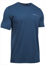 Under Armour Shirt Charged Cotton SS dunkelblau/grau