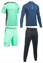 Under Armour Trainingsset Threadborne 4-teilig hellgrün/dunkelblau