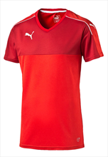 Puma Shirt Accuracy Shortsleeved rood/wit