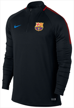 Nike FC Barcelona Trainings Top Squad Drill schwarz/rot
