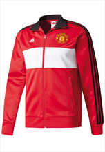 Adidas Manchester United trainingsjas 3S rood/wit