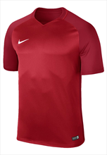 Nike shirt Dry Trophy III SS Jersey rood/donkerrood