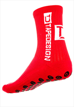 TapeDesign Socken Anti-Slip Socks TD rot/weiß
