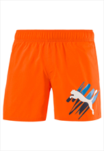 "Puma Short Style Summer ""Big Cat"" orange/weiß"