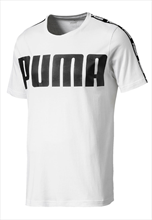 Puma Shirt Power Rebel Logo Tee weiß/schwarz