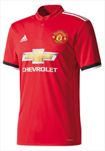 Adidas Manchester United thuisshirt 2017/18 rood/wit