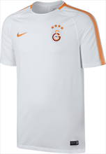 Nike Galatasaray Istanbul trainingsshirt Breathe Squad Top SS wit/oranje