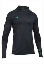Under Armour Trainingsoberteil Pitch II Reactor ColdGear schwarz/grün fluo