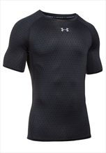 Under Armour Funktionsshirt HeatGear SS Compression schwarz/silber