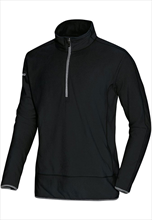 Jako Fleece Ziptop Team schwarz/grau
