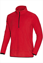 Jako Fleece Ziptop Team rot/schwarz