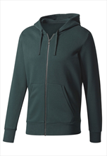 adidas Kapuzenjacke Essentials Linear Full-Zip Hoodie Fleece dunkelgrün/schwarz