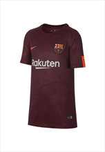Nike FC Barcelona Kinder Champions League Trikot 2017/18 dunkelrot/orange