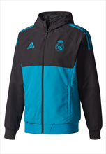 adidas Real Madrid Champions League Präsentationsjacke 2017/18 schwarz/türkis