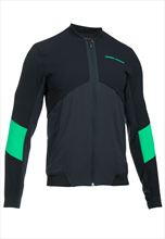 Under Armour Trainingsjacke Pitch II Reactor Bomber ColdGear schwarz/grün fluo