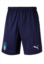 Puma Italien Trainingsshort Zip Pocket dunkelblau/weiß