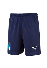 Puma Italien Kinder Trainingsshort Zip Pocket dunkelblau/weiß