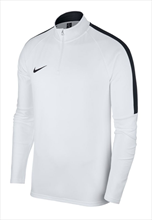 Nike Trainingsoberteil Academy 18 Drill Top 1/4 Zip LS weiß/schwarz