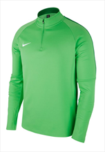 Nike Trainingsoberteil Academy 18 Drill Top 1/4 Zip LS grün fluo/weiß