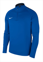 Nike Trainingsoberteil Academy 18 Drill Top 1/4 Zip LS blau/weiß