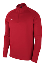 Nike Trainingsoberteil Academy 18 Drill Top 1/4 Zip LS rot/weiß