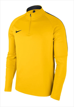 Nike Trainingsoberteil Academy 18 Drill Top 1/4 Zip LS gelb/schwarz