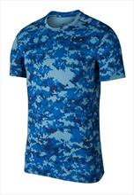 Nike Trainingsshirt Baselayer Top SS blau/dunkelblau