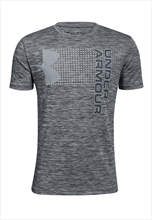 Under Armour Kinder Shirt Crossfade Tee grau/schwarz