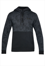 Under Armour Kapuzenpullover Threadborne 1/2 Zip Fleece Hoody schwarz/grau