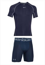 Under Armour Funktionsset 2-teilig HeatGear Compression dunkelblau/grau