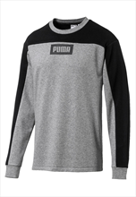 Puma Trainingspullover Rebel Block Crew TR grau/schwarz