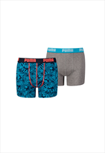 Puma Kinder Play Loud Print Boxer 2er Pack blau/grau