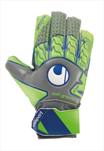 Uhlsport Kinder Torwarthandschuhe Tensionsgreen Soft Advanced grün fluo/grau