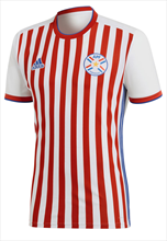 Adidas Paraguay Heren thuisshirt 2018/19 rood / wit