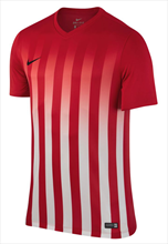 Nike Trikot SS Striped Division II rot/weiß