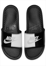 "Nike Badesandalen Benassi ""Just Do It"" schwarz/weiß"