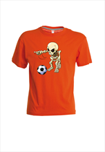 geomix Kinder Shirt Skelettinho orange/schwarz