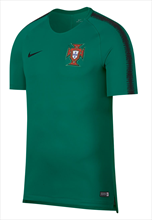 Nike Portugal Trainingsshirt Breathe Squad Top türkis/schwarz