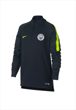 Nike Manchester City Kinder Trainingsoberteil Squad Drill Top dunkelblau/gelb fluo