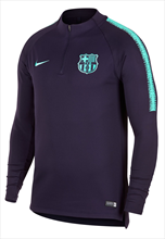 Nike FC Barcelona trainingstrui Squad Drill Top donker paars/turkoois