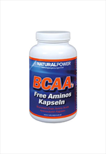 Natural power BCAA's free amino caps met 100 tabletten