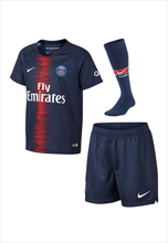 Nike Paris St. Germain Kleinkinder Heim Mini Kit 2018/19 dunkelblau/rot