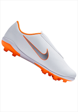 Nike Kinder Fußballschuh Mercurial Vapor XII JR Club PS V FG/MG weiß/orange fluo