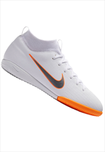 Nike Kinder Hallenschuh Mercurial SuperflyX VI JR Academy GS IC weiß/orange fluo