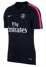 Nike Paris St. Germain Trainingsshirt Breathe Squad Top schwarz/pink fluo