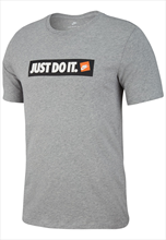 "Nike Shirt Sportswear ""Just do It"" grau/weiß"