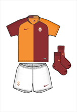 Nike Galatasaray Istanbul Baby Heim Mini Kit 2018/19 rot/orange