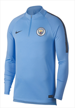 Nike Manchester City trainingstrui Squad Drill Top lichtblauw/donkerblauw