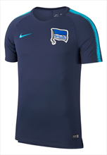 Nike Hertha BSC trainingsshirt Breathe Squad Top donkerblauw/lichtblauw
